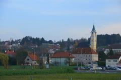 Ansfelden στο σούρουπο, Αυστρία Στοκ εικόνες με δικαίωμα ελεύθερης χρήσης