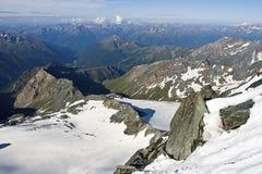 Ansicht über Österreich-Alpen Lizenzfreie Stockbilder