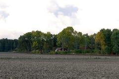 Ansicht über Ackerland Lizenzfreies Stockbild