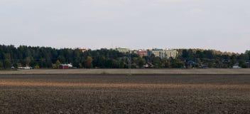 Ansicht über Ackerland Lizenzfreie Stockfotografie