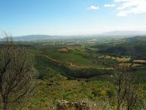 Ansicht über Ackerlande von Drakenstein-Bergen Lizenzfreies Stockfoto