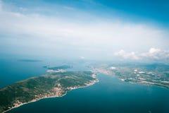 Ansicht über Adria von der Fläche Stockfotos
