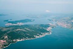 Ansicht über Adria von der Fläche Lizenzfreies Stockbild