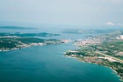 Ansicht über Adria von der Fläche Lizenzfreie Stockfotos
