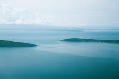 Ansicht über Adria von der Fläche Stockbild