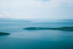 Ansicht über Adria von der Fläche Stockbilder