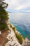 Ansicht über adriatisches Meer Lizenzfreies Stockfoto