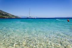 Ansicht über adriatisches Meer in Dalmatien, Kroatien Lizenzfreie Stockfotografie