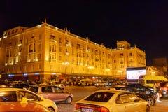 Ansicht über Agmashenebeli-Allee nachts tbilisi georgia Stockfoto
