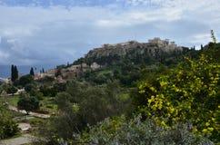 Ansicht über Agora Stockbild