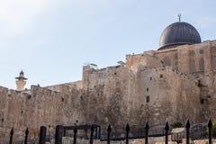 Ansicht über Al-aksamoschee, Jerusalem Stockfotografie