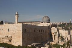 Ansicht über Al-aksamoschee, Jerusalem Lizenzfreie Stockfotos