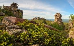 Ansicht über alte Berge ural landschaft Lizenzfreies Stockfoto