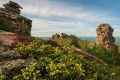 Ansicht über alte Berge ural landschaft Lizenzfreies Stockbild