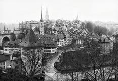 Ansicht über alte Stadt von Bern Lizenzfreie Stockfotos