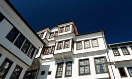 Ansicht über alte Stadt von Ohrid in Mazedonien Lizenzfreie Stockfotografie