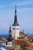 Ansicht über altes Tallinn Stockbild