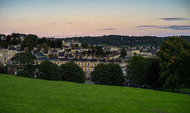 Ansicht über Bad, Somerset, England Stockbild