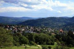Ansicht über Baden-Baden Stockfotos