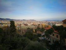Ansicht über Barcelona im Frühjahr lizenzfreie stockfotografie
