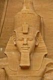 Ansicht über berühmten Abu Simbel in Ägypten Stockfotografie