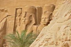 Ansicht über berühmten Abu Simbel in Ägypten Stockbild