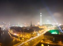 Ansicht über Berlin auf Sylvesterabenden 2013 Lizenzfreies Stockbild