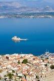Ansicht über bourtzi Schloss im nafplion Griechenland Lizenzfreies Stockbild