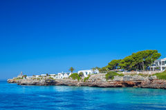 Ansicht über Bucht Cala-DES Frares Lizenzfreie Stockbilder