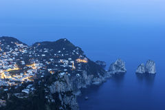 Ansicht über Capri in Italien Lizenzfreie Stockfotografie