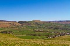 Ansicht über Castleton, Höchstbezirk stockfoto