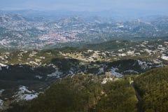 Ansicht über Cetinje Lizenzfreies Stockfoto