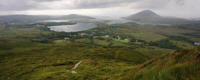 Ansicht über Connemara Nationalpark, Stockfotografie