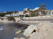 Ansicht über Coveta Fuma vom Strand stockfotografie