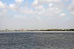 Ansicht über The Creek Jachthafenwasser in Karatschi Pakistan lizenzfreies stockbild