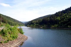 Ansicht über das Fluss Furan, Frankreich Stockfoto