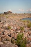 Ansicht über das Fort Alexander I. Stockfotografie