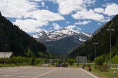 Ansicht über das Gotthard stockfotografie