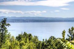 Ansicht über das Meer in Kroatien Stockfotografie
