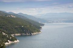 Ansicht über das Meer in Kroatien Lizenzfreie Stockfotografie