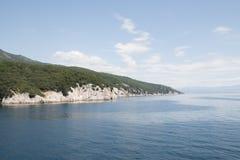 Ansicht über das Meer in Kroatien Lizenzfreies Stockfoto