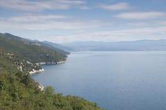Ansicht über das Meer in Kroatien Lizenzfreie Stockbilder