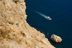 Ansicht über das Passagierboot Stockfoto