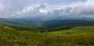 Ansicht über das Tal Stockbilder