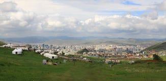 Ansicht über das Ullaanbaator in Mongolei Stockbilder