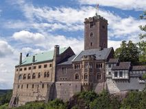 Ansicht über das Wartburg-Schloss lizenzfreies stockbild