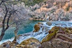 Ansicht über das Wasserfall Skradinski-buk Lizenzfreies Stockfoto