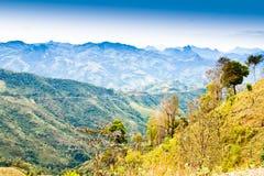 Ansicht über den Berg. Stockbilder