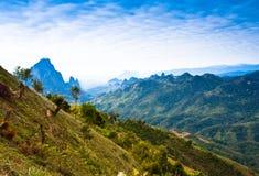 Ansicht über den Berg. Stockfoto