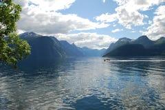 Ansicht über den Fjord Stockbild